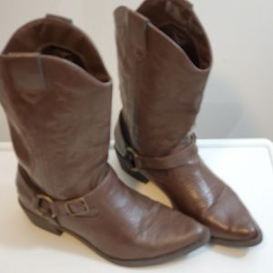 Kohl's SO Western Style Boot Brown Size 8
